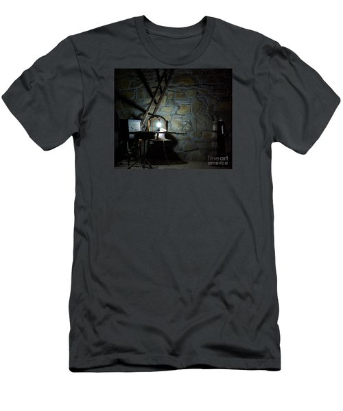 Men's T-Shirt (Slim Fit) featuring the photograph The Perfect Place For Music by AmaS Art