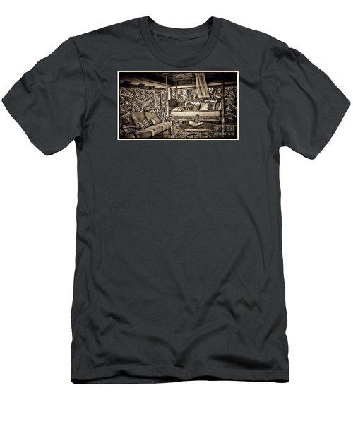 Men's T-Shirt (Slim Fit) featuring the photograph The Retreat by Pamela Blizzard