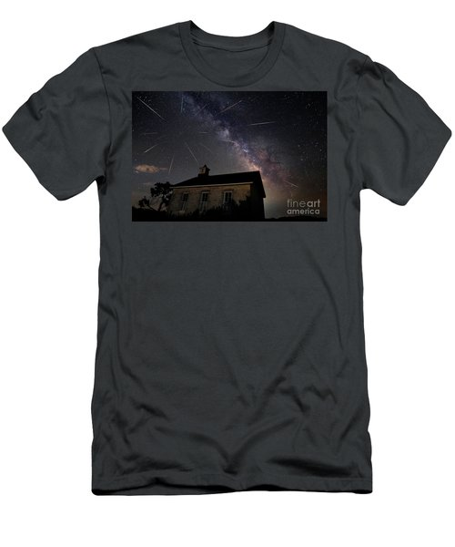 The Perseid Meteor Shower At Lower Fox Creek School  Men's T-Shirt (Athletic Fit)