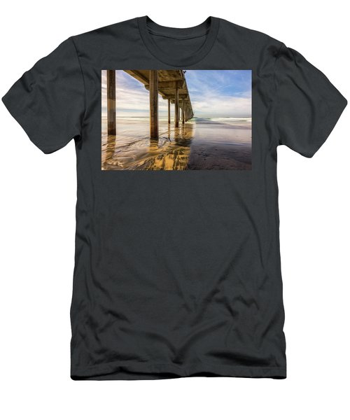 The Pier And Its Shadow Men's T-Shirt (Slim Fit) by Joseph S Giacalone