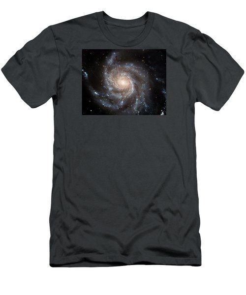 The Pinwheel Galaxy  Men's T-Shirt (Slim Fit) by Hubble Space Telescope