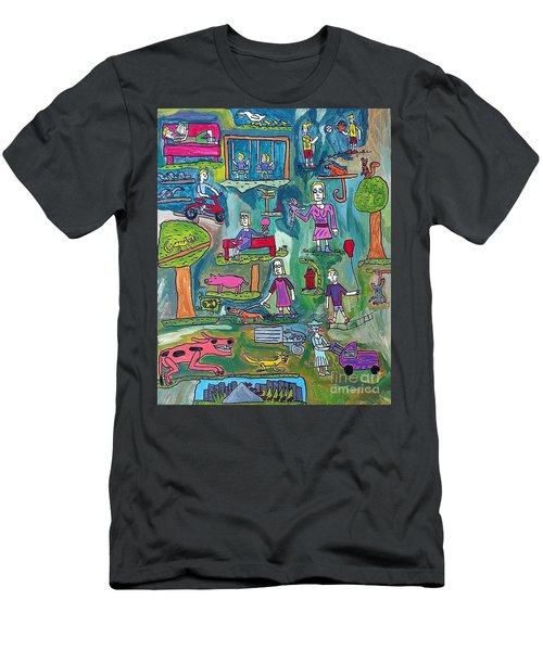 The Playground Men's T-Shirt (Slim Fit) by Brandon Drucker