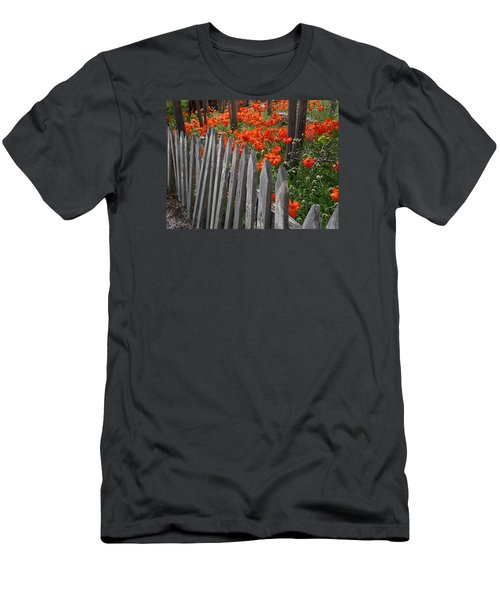 The Poppy Fence Men's T-Shirt (Athletic Fit)