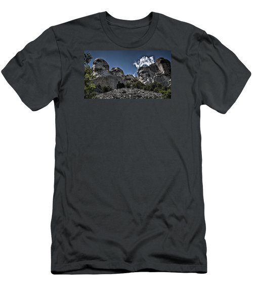 Men's T-Shirt (Slim Fit) featuring the photograph The Presidents Of Mount Rushmore by Deborah Klubertanz