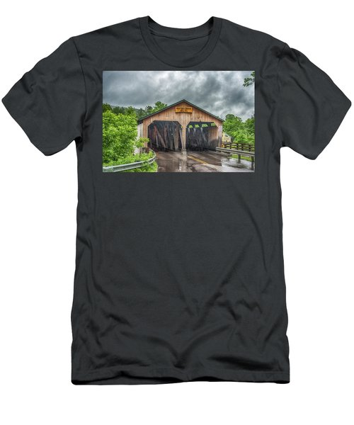 Men's T-Shirt (Athletic Fit) featuring the photograph The Pulp Mill Bridge by Guy Whiteley