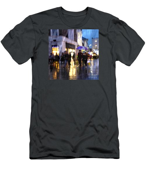 Men's T-Shirt (Athletic Fit) featuring the photograph The Purple Umbrella by LemonArt Photography