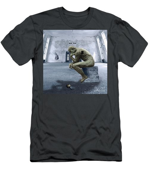 Men's T-Shirt (Slim Fit) featuring the photograph Puzzled by Juli Scalzi