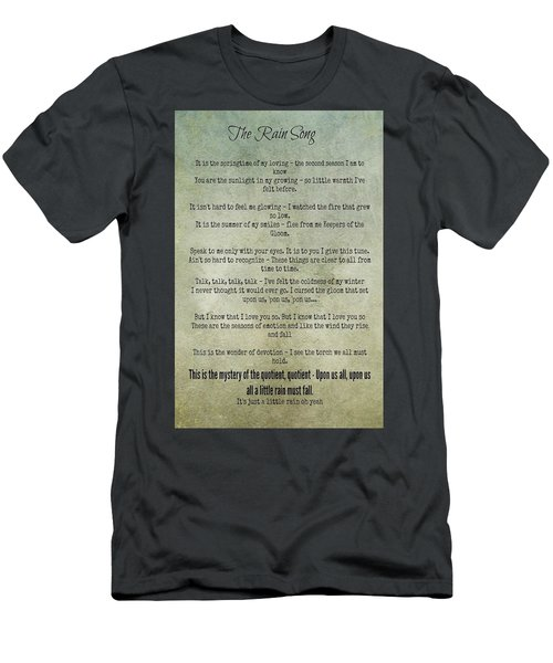 The Rain Song-led Zeppelin Men's T-Shirt (Athletic Fit)