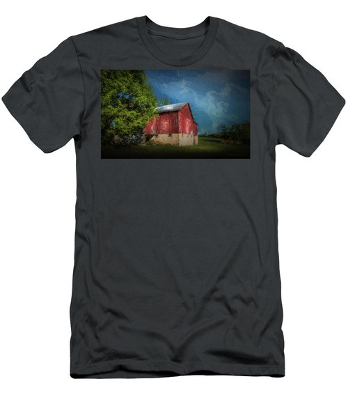 Men's T-Shirt (Slim Fit) featuring the photograph The Red Barn by Marvin Spates