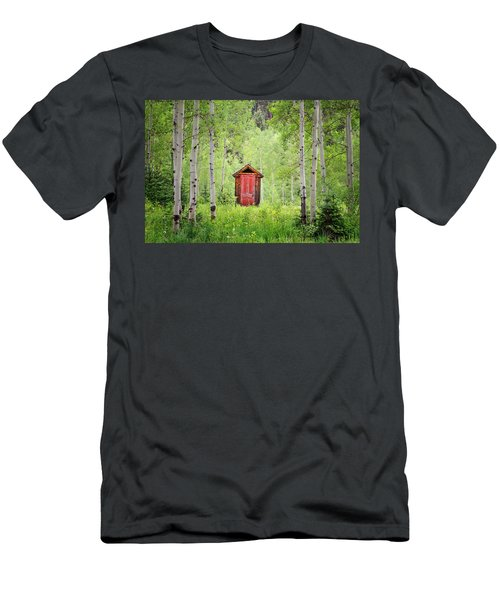 Men's T-Shirt (Athletic Fit) featuring the photograph The Red Door  by Angela Moyer