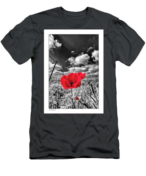 The Red Spot Men's T-Shirt (Slim Fit) by Arik Baltinester