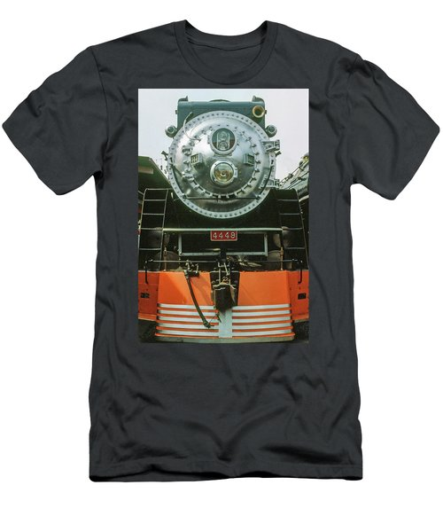 Men's T-Shirt (Athletic Fit) featuring the photograph The Restored Southen Pacific Daylight Locomotive No. 4449 by Frank DiMarco