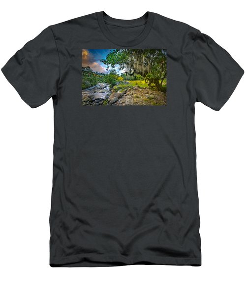 The River At Cocora Men's T-Shirt (Athletic Fit)