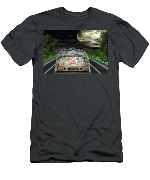 Men's T-Shirt (Slim Fit) featuring the digital art The Road Trip by Angela Hobbs