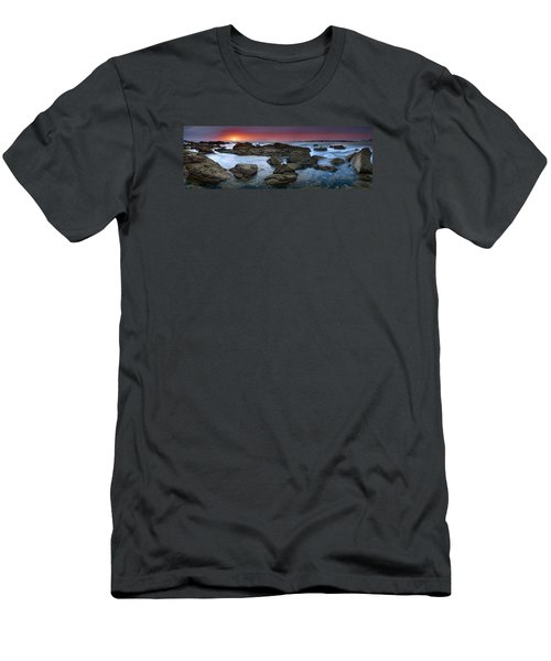 The Rock Labyrinth Men's T-Shirt (Slim Fit) by John Chivers