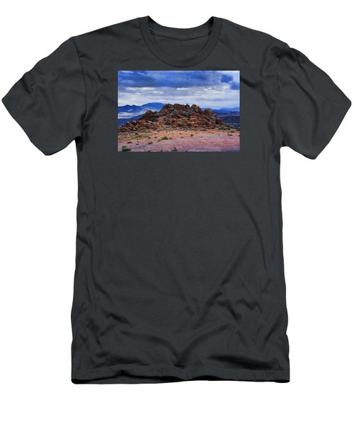Men's T-Shirt (Slim Fit) featuring the photograph The Rock Stops Here by B Wayne Mullins