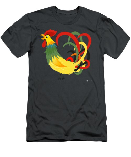 The Rooster Stands Alone Men's T-Shirt (Athletic Fit)