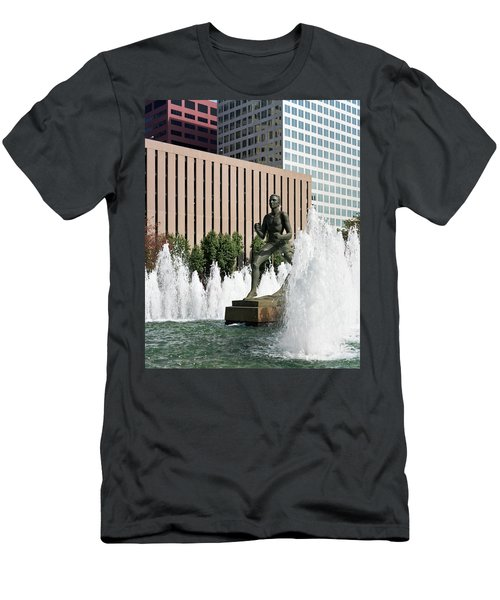 The Runner Sculpture Men's T-Shirt (Athletic Fit)
