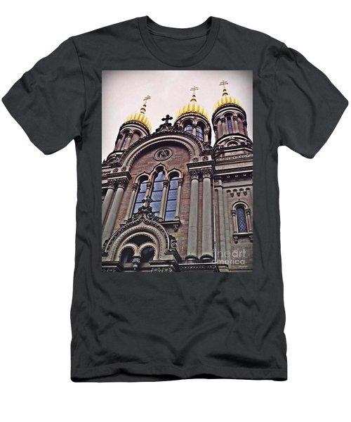The Russian Church In Wiesbaden 2 Men's T-Shirt (Slim Fit) by Sarah Loft