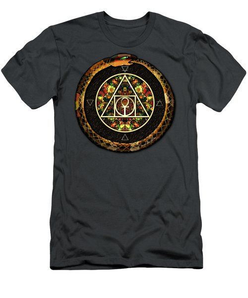 Men's T-Shirt (Slim Fit) featuring the digital art The Sacred Alchemy Of Life by Iowan Stone-Flowers