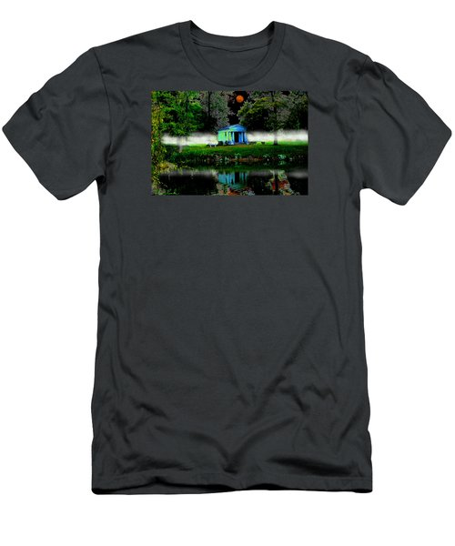 Men's T-Shirt (Slim Fit) featuring the digital art The Cemetery  by Michael Rucker