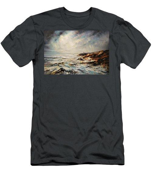 The Sea  Men's T-Shirt (Slim Fit) by AmaS Art
