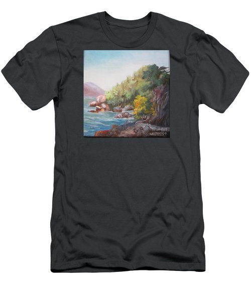 The Sea And Rocks Men's T-Shirt (Slim Fit)