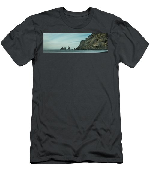 The Sea Stacks Of Vik, Iceland Men's T-Shirt (Athletic Fit)
