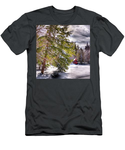 Men's T-Shirt (Slim Fit) featuring the photograph The Secluded Boathouse by David Patterson