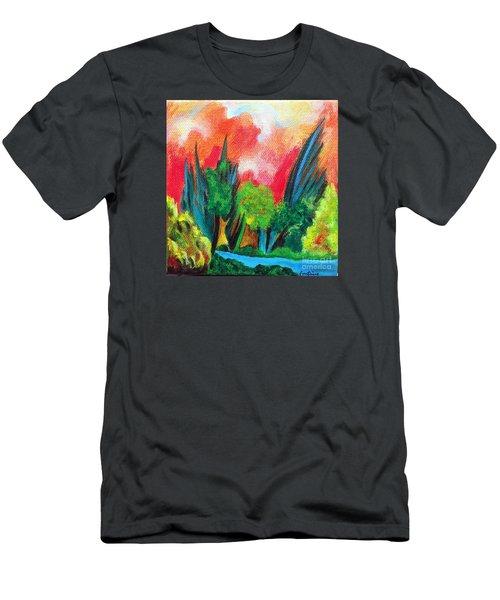 The Secret Stream Men's T-Shirt (Slim Fit) by Elizabeth Fontaine-Barr