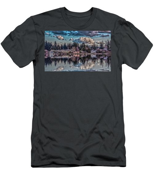 Men's T-Shirt (Slim Fit) featuring the digital art The Shore by Timothy Latta