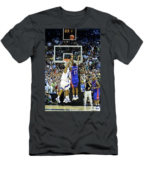 The Shot, 3.1 Seconds, Mario Chalmers Magic, Kansas Basketball 2008 Ncaa Championship Men's T-Shirt (Athletic Fit)