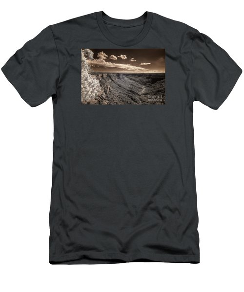 The Sky Tilts Down To The Canyon Men's T-Shirt (Slim Fit) by William Fields