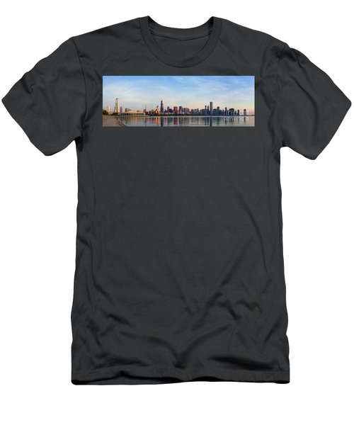 The Skyline Of Chicago At Sunrise Men's T-Shirt (Athletic Fit)