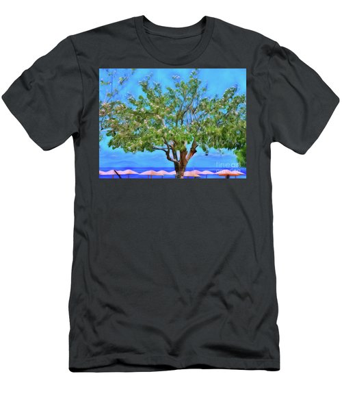 Men's T-Shirt (Athletic Fit) featuring the photograph The Smiling Tree Of Benitses by Leigh Kemp