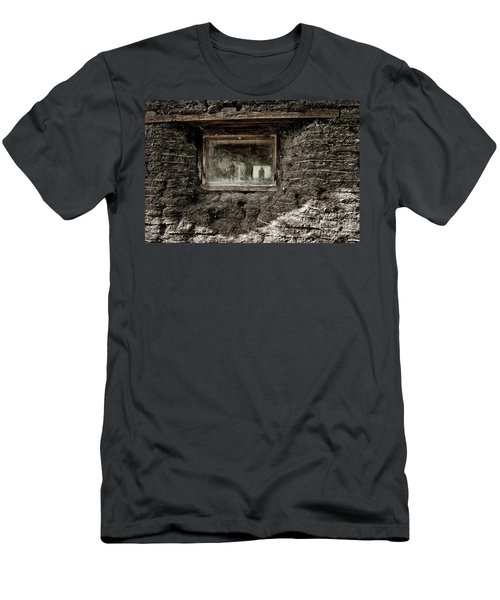 Men's T-Shirt (Slim Fit) featuring the photograph The Sod House by Brad Allen Fine Art
