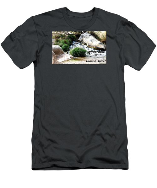 Men's T-Shirt (Slim Fit) featuring the photograph The Spirit Of Water by David Norman