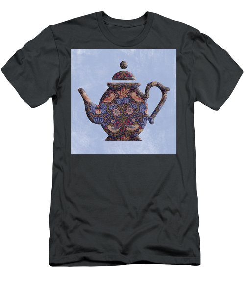 The Strawberry Thief Pattern Teapot Men's T-Shirt (Athletic Fit)