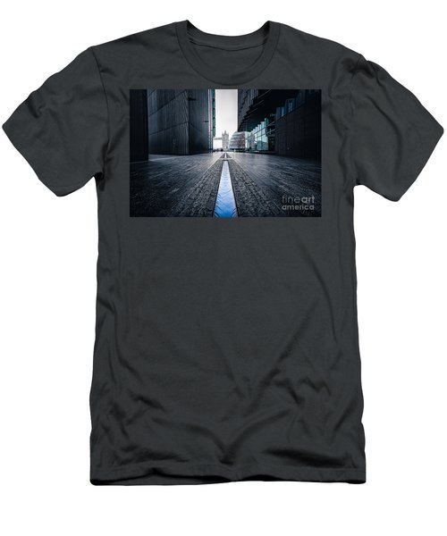 The Stream Of Time Men's T-Shirt (Slim Fit) by Giuseppe Torre