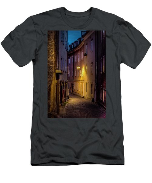 Men's T-Shirt (Slim Fit) featuring the photograph The Streets Of Salzburg by David Morefield