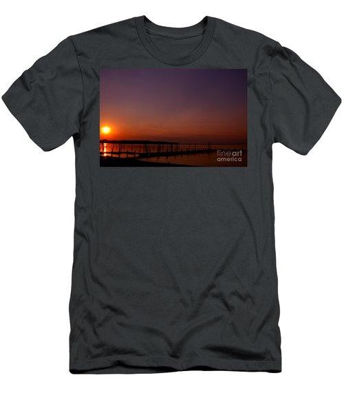 The Sun Sets Over The Water Men's T-Shirt (Athletic Fit)