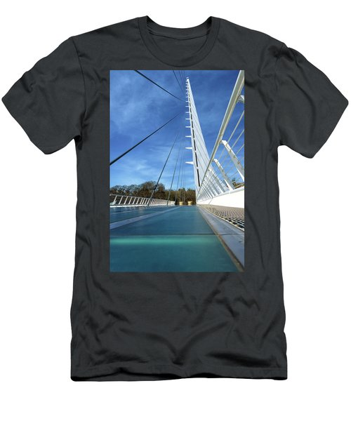 The Sundial Bridge Men's T-Shirt (Slim Fit) by James Eddy