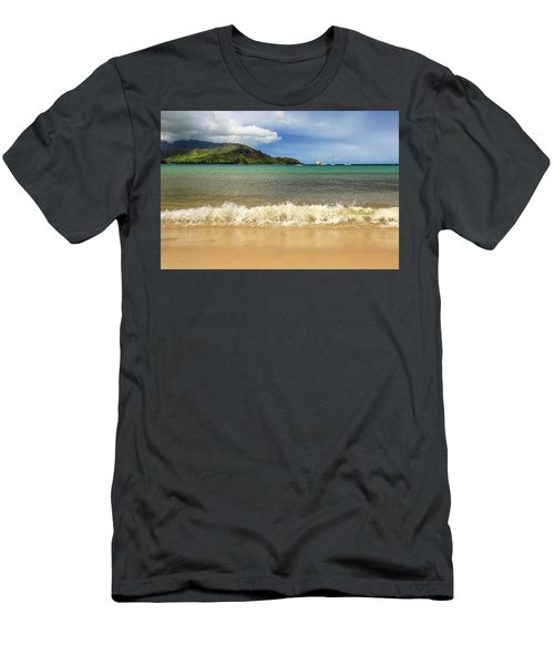 The Surf At Hanalei Bay Men's T-Shirt (Athletic Fit)