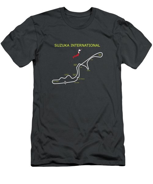 The Suzuka Racing Circuit Men's T-Shirt (Athletic Fit)