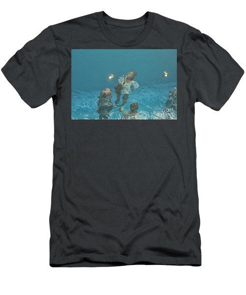 The Swimming Pool Men's T-Shirt (Slim Fit) by Patricia Hofmeester