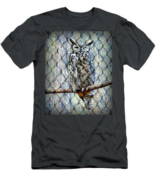Men's T-Shirt (Athletic Fit) featuring the photograph The Textured Owl by AJ Schibig