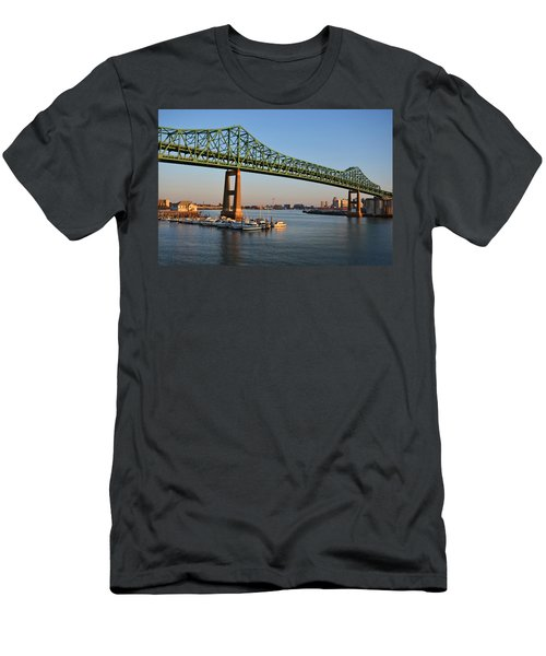 The Tobin Bridge Into The Sunset Chelsea Yacht Club Men's T-Shirt (Athletic Fit)