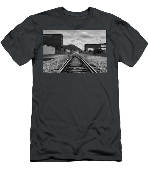 Men's T-Shirt (Athletic Fit) featuring the photograph The Tracks by Break The Silhouette