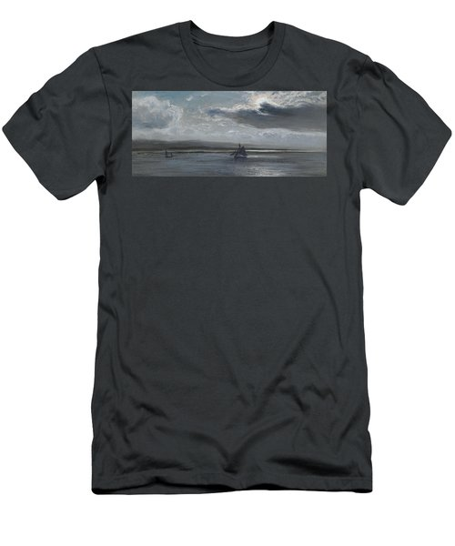 The Traeth Mawr, Moonlight Men's T-Shirt (Athletic Fit)