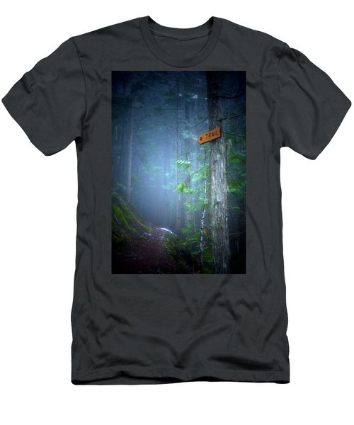 Men's T-Shirt (Slim Fit) featuring the photograph The Trail by Tara Turner